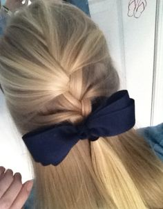 French Braid with a Bow!!!