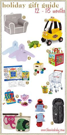 From baby to toddler these gift ideas are sure to please any 12 - 18 month old your list!