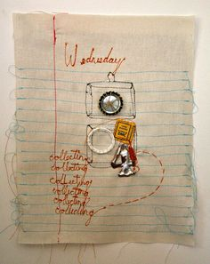 Wednesday journal page.... by mummysam, via Flickr