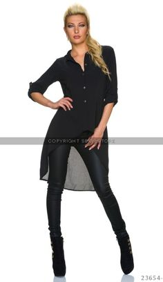 Long-Blouse Black