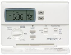 Programmable Thermostat - Compatible with most 24v Gas, Oil, Electric Heating and Air Conditioning Systems, Single Stage Heat Pumps, 2-Wire Hydronic Systems and Hydronic Air Handlers.