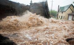 Brewery Creek flooding