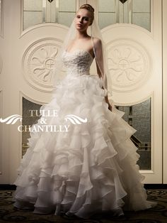 Lolita-Stunning White Floral Beaded Ball Gown Wedding Dress  Style # TBQW010     $556.00 - $499.00  Save:10% off