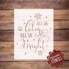 The Holidays are right around the corner. 🎄 Find a frame or wood board and make a few signs for the holiday season. Christmas Tree Stencil, Christmas Signs Wood, Rustic Christmas, Christmas Art, Christmas Holidays, Holiday Signs, Beautiful Christmas, Christmas Projects, Holiday Crafts