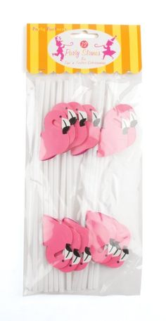 Amazon.com: Party Partners Design Pink Flamingo Decorative Cocktail Drinking Straws, Pink, 12 Count: Toys & Games