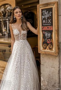 >>>Cheap Sale OFF! >>>Visit>> berta fall 2019 muse bridal cap sleeves deep plunging v neck full embellishment romantic a line wedding dress sheer button back sweep train zv -- MUSE by Berta 2019 Barcelona Wedding Dresses Sheer Wedding Dress, Wedding Dress Trends, Dream Wedding Dresses, Bridal Dresses, Wedding Gowns, Wedding Bride, Wedding Outfits, Elegant Wedding, Dresses Dresses