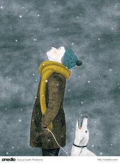 illustration by evelyne laube & nina wehrle Buch Design, Art Design, Art And Illustration, Kunst Online, Winter Art, Art Graphique, Dog Art, Oeuvre D'art, Illustrators