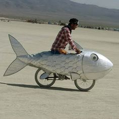 vélo poisson burning man