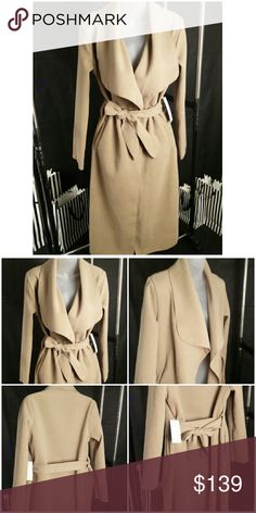 """Minimalist Camel Coat Minimalist Style Long Coat Color: Camel Brown Size: OS ( fits most S-L) Material content: Polyester  Coat Length: 47"""" -2 Side pockets -Belted -Flattering cutting  -Soft material  Made in Italy   Brand new with tags Boutique Jackets & Coats"""