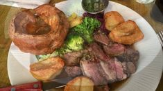 Back at one of my favourite neighbourhood pubs for a lovely Sunday roast. Roast rump of lamb with all the trimmings and a pint of Guinness Sunday Roast, Lamb, Sausage, Bridge, Pork, London, Make It Yourself, Kale Stir Fry, Sausages