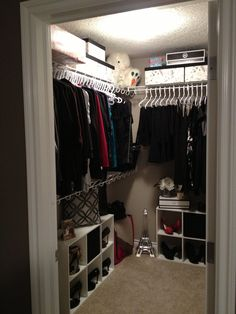 Cube organizers from Walmart turn a closet into something special