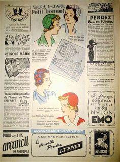 """""""LE PETIT ECHO DE LA   MODE"""" du 17 juin 1951 .  Avec 5 superbes patrons gratuits de couture (robe, chemise, sac etc) , et 5 patrons de tricot !  Des recettes de cuisines et tout un tas d'autres choses...  #couture #coutureaddict #vintagefashion #freepattern #freepatterns #freevintagepattern #patronsgratuits #patrongratuit #tricot"""