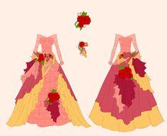 Belle Dress Design by Eranthe.deviantart.com on @deviantART