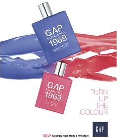 Gap Established 1969 Electric and Bright ~ New Fragrances ~ Fragrantica Gap, New Fragrances, Perfume Bottles, Helsinki, Product Launch, Bright, Cosmetics, Electric, David