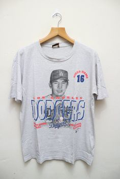 Vintage 1995 DODGERS Los Angeles Hideo Nomo 16 Mlb Major League Baseball Player Nutmeg Tee T Shirt by VintageClothingMall on Etsy