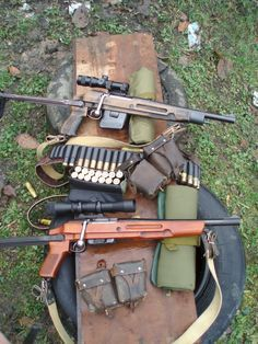 gunrunnerhell: Bolt Gauge An interesting pair of bolt-action shotguns that are magazine fed. Note the AK underfolding stock. Maybe someone ...