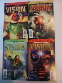 COMPLETE RUN OF ALL 4 ISSUES OF ICONS THE VISION (MARVEL COMICS 2002): #1-4 *FREE SHIPPING*
