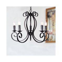 シャンデリア 北欧風照明 天井照明 レトロな照明器具 5灯