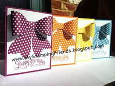 My Stamping Friends: Birthday Cards using the Gift Bow Bigz Die from Stampin' Up!