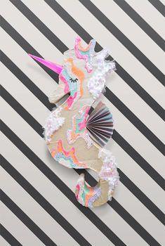 DIY Seahorse Unicorn Piñata   Oh Happy Day!