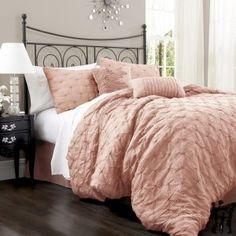 Lush Decor Lake Como Comforter Set - Overstock™ Shopping - Great Deals on Lush Decor Comforter Sets Dream Bedroom, Home Bedroom, Master Bedroom, Bedroom Decor, Master Suite, Upstairs Bedroom, Bedroom Ideas, Pretty Bedroom, Bedroom Inspiration