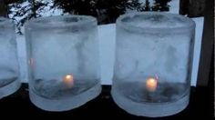 How To Make Ice Candles, via YouTube. I dont know if ill ever be in a place that stays cold enough to make these but OMG! They are so pretty I could see them as perfect party/wedding decor.