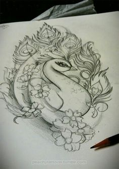 Peacock tattoo idea, not sure if this would actually make it somewhere on my body, but I do like the look. New school peacock Girly Tattoos, New Tattoos, Body Art Tattoos, Tattoo Drawings, Tatoos, Tattoo Pics, Sketch Tattoo, Tattoo Designs For Women, Tattoos For Women