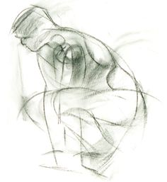 Gestural drawing by Robert Barrett. Visit artistsnetwork.com to see when it's okay to exaggerate. ~ch #drawing #figure #art