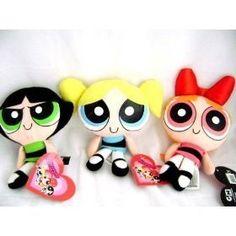 Powerpuff Girls plushies....my friend has all three! she beat me to them.