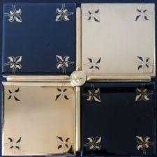 Fleur De Lis Tile Design in Black and Gold Motif Design, Tile Design, Tiles, Wall Decor, Gift Wrapping, Modern, Gold, Black, Room Tiles