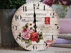 PANDILLA BASURITA II... DECORACION ECONOMICA, RECICLADOS, RECUPERADOS, RESTAURADOS ETC... | Aprender manualidades es facilisimo.com Paris Flea Markets, Time Clock, Vintage Wood, Vintage Clocks, Heart Crafts, Time Art, Projects To Try, Simple, Clock Faces