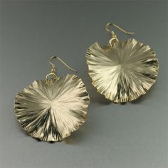Large Nu Gold Lily Pad Earrings - Nu-Gold Jewelry Collection