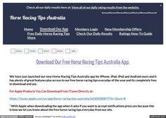 Download The Horse Racing Tips Australia App
