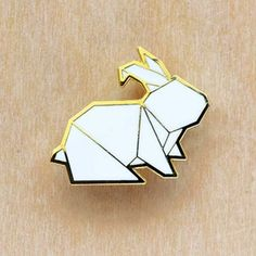 Image of Origami pins: Bunny