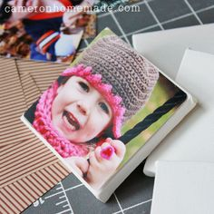 Mini photo canvas ornaments - great gift - diy