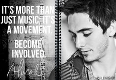 It's more than just music; it's a movement. Become involved. - Alex Marshall