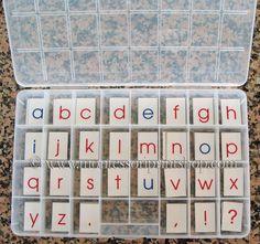 DIY Montessori Moveable Alphabet #Montessori
