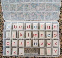 Learn how to make your own printed Montessori Moveable Alphabet for use at home or school.