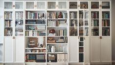 Ikea Billy Bookcase, Bookshelves, Ikea Inspiration, Libreria Billy Ikea, Ikea Furniture, Modern Furniture, Bedroom Walls, Dollhouse Bookcase, Bibliotheque Design