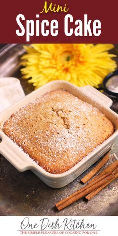 Spice Cake Recipes, Mug Recipes, Baking Recipes, Dessert Recipes, Recipies, Appetizer Recipes, Small Desserts, Mini Desserts, Just Desserts