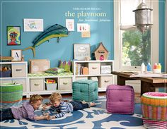 In a perfect world, my kids play area would look something like this :)