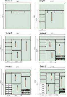 Dimensões para closet e guarda-roupa planejado!
