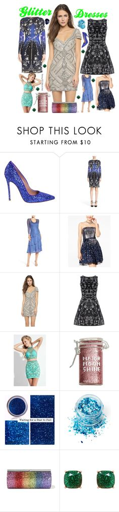 """Glitter dresses"" by brooklynjadetoni ❤ liked on Polyvore featuring Dsquared2, Roberto Cavalli, Komarov, City Studios, Parker, Alice + Olivia, Rachel Allan, Major Moonshine, In Your Dreams and Jimmy Choo"