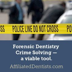 We've all seen a medical examiner use forensic dentistry in some TV or movie crime drama ask for dental records to identify an otherwise unknown body. But how accurate is this portrayal? Click the image to find out! #dentist #dental #forensics #teeth