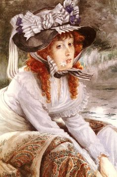 James Jacques Joseph Tissot (1836-1902) on the river