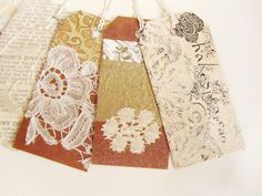 VINTAGE LACE SCRAP tags - little artworks to decorate your special gifts at xmasmuse.etsy.com