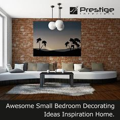 Awesome small bedroom decorating ideas inspiration Home. #Prestige Interiors Hyderabad http://www.prestigeinteriors.in/