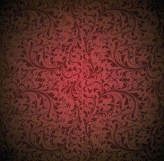 Real vintage vermelho floral do vetor da flor