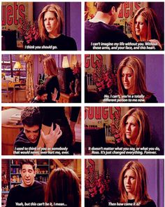 Friends, this is such a sad scene. Literally broke my heart when I watched it, I was sitting there going NOOOOOOOOOO