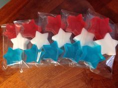 Three stars-Red,White and Blue Soap on Etsy, $2.00